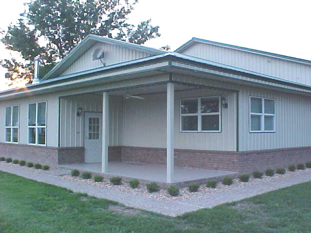 Metal buildings with living quarters pictures to pin on for Metal garage with living quarters floor plans