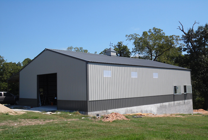 Long 40X60X16 Post-Frame building by AMKO Buildings NW Arkansas