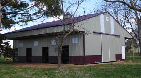 Mayfield 36 x 48 x 12 Horse Barn AMKO Buildings N.W. Arkansas