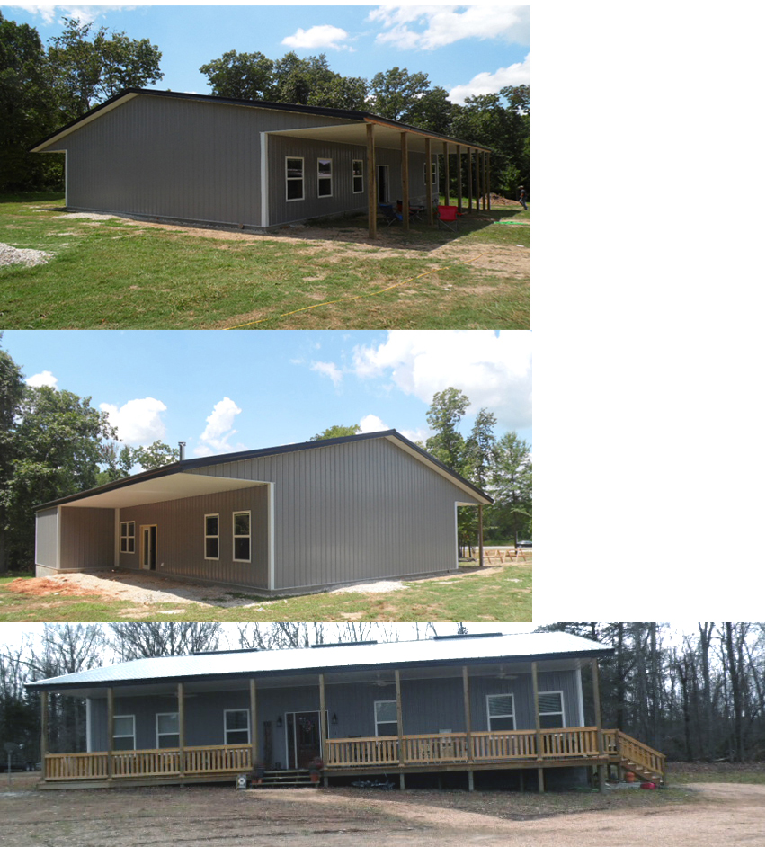 Undernehr Family 2078 SqFt Stud-Wall AMKO Metal Building Homes Houses NW Arkansas Metal